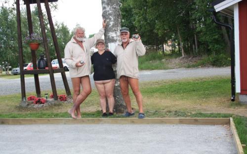 Fra petanque (boule)-turnerneringen. Vinnerlaget fra Norge!